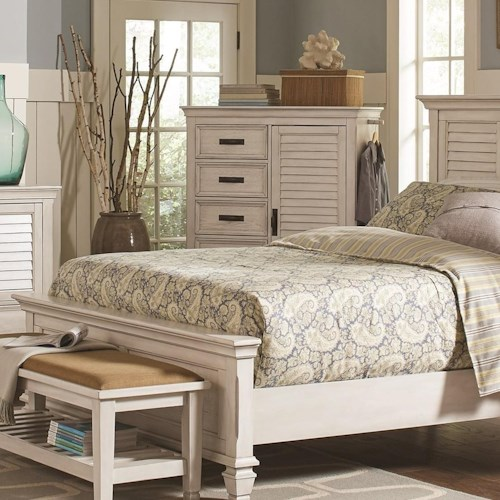 Coaster Franco 5 Drawer Man's Chest with Louvered Panel Door