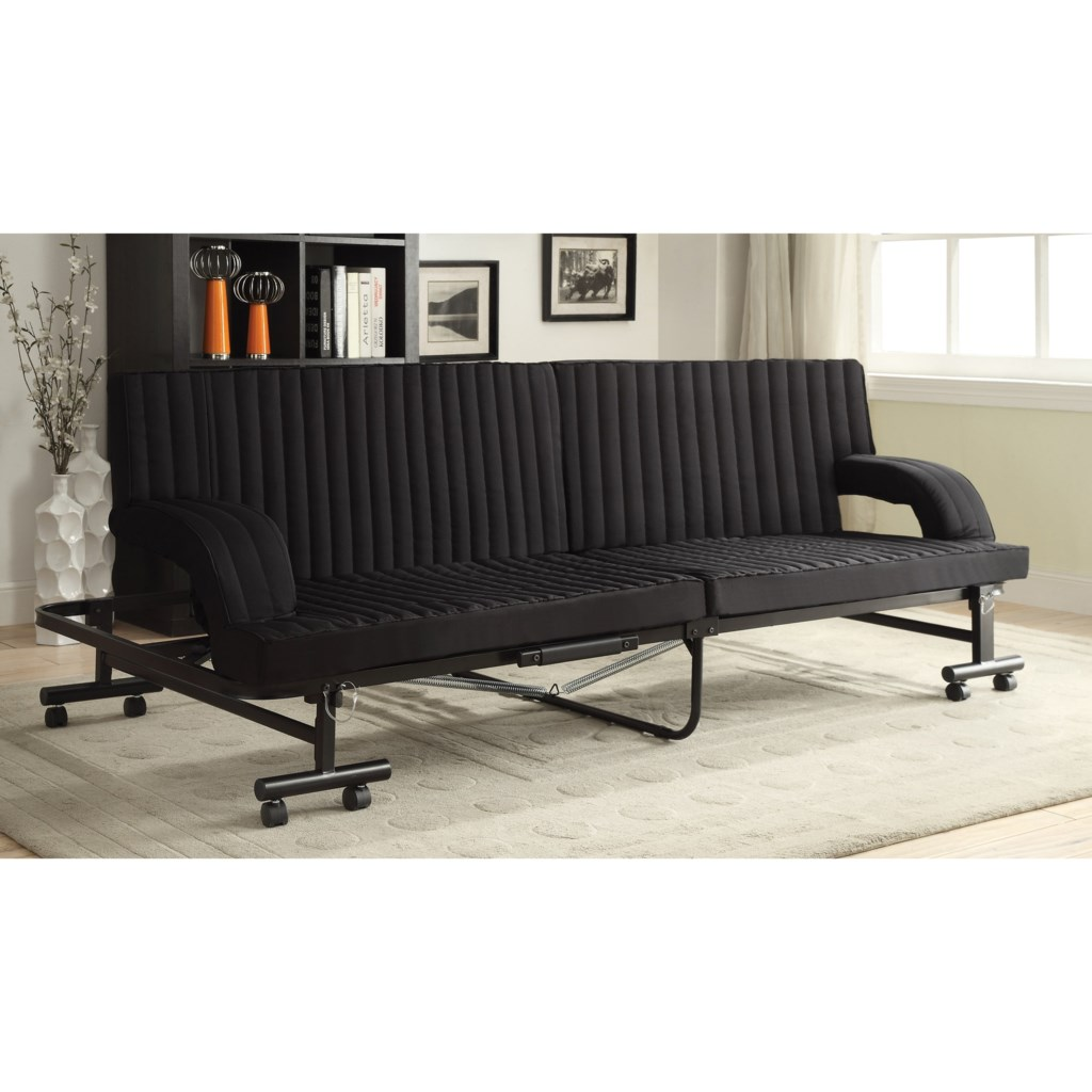 Coaster Futons Black Sofa Bed With Metal Frame Value City
