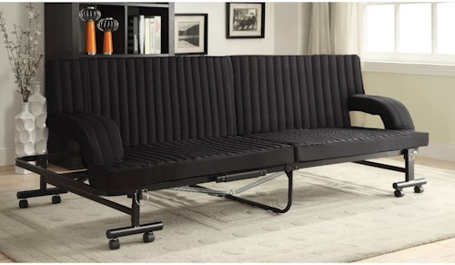 Coaster Futons Black Sofa Bed with Metal Frame