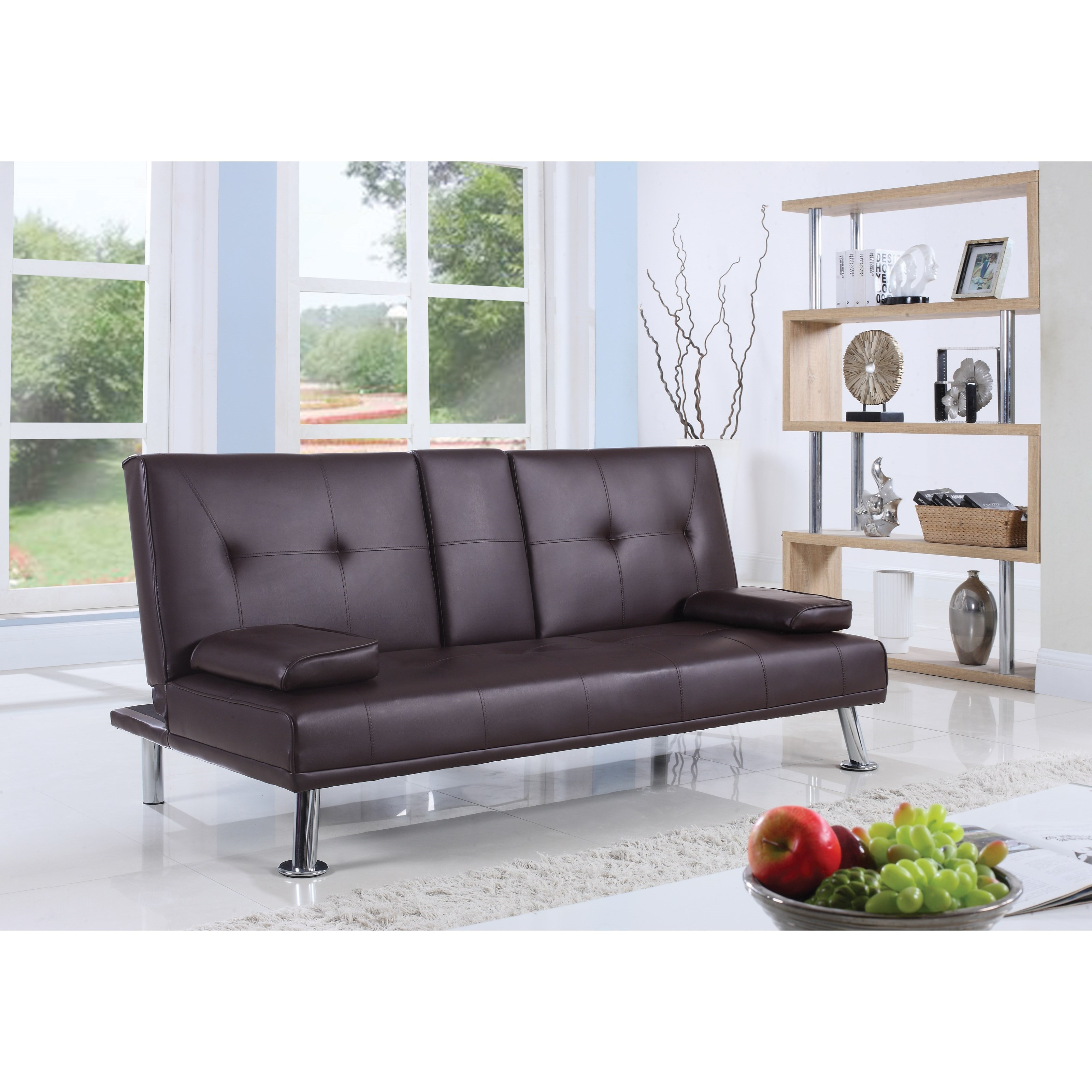 coaster futons 300692 leatherette sofa bed with center console   lapeer furniture  u0026 mattress center   futons coaster futons 300692 leatherette sofa bed with center console      rh   lapeerfurnitureandmattress