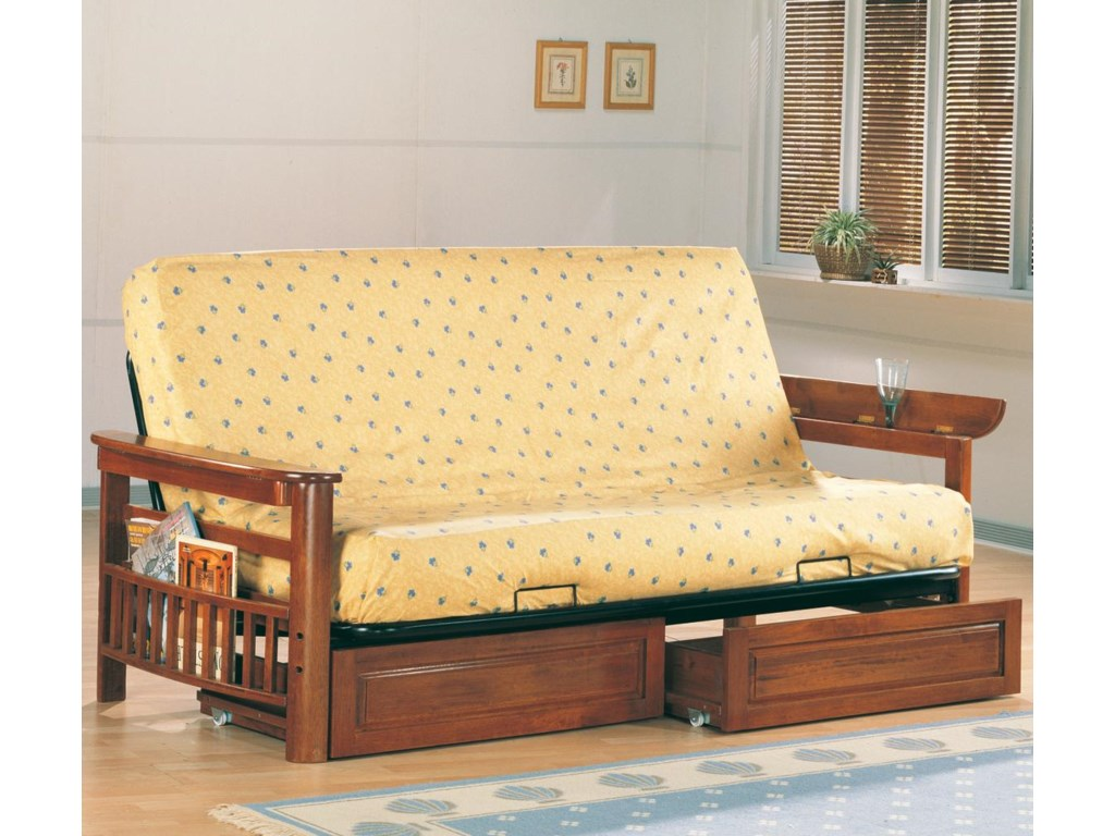 Coaster Futonsfuton Frame And Drawer Set With Mattress