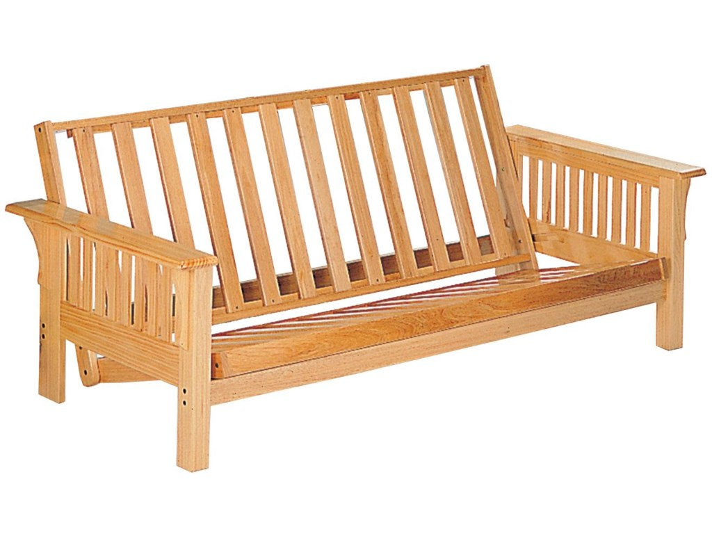 Futons Casual Futon Frame With Slat Side Detail By Coaster