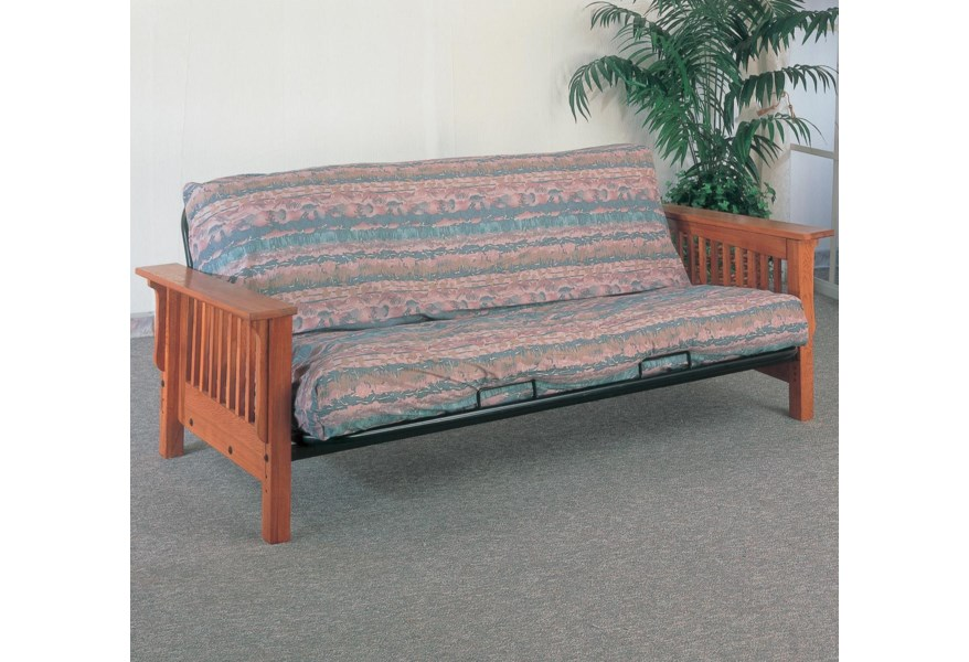 Futons Casual Futon Frame With Mission Slat Side Detail By Coaster At Dunk Bright Furniture