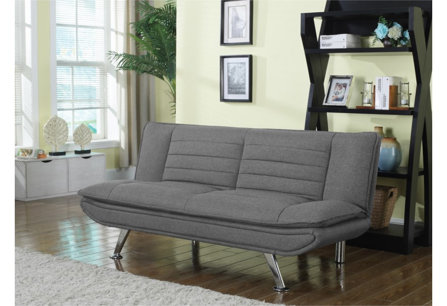 Coaster Futons Grey Sofa Bed With