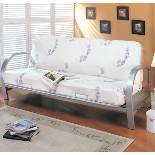 Coaster Futons Contemporary Metal Futon Frame and Mattress Set