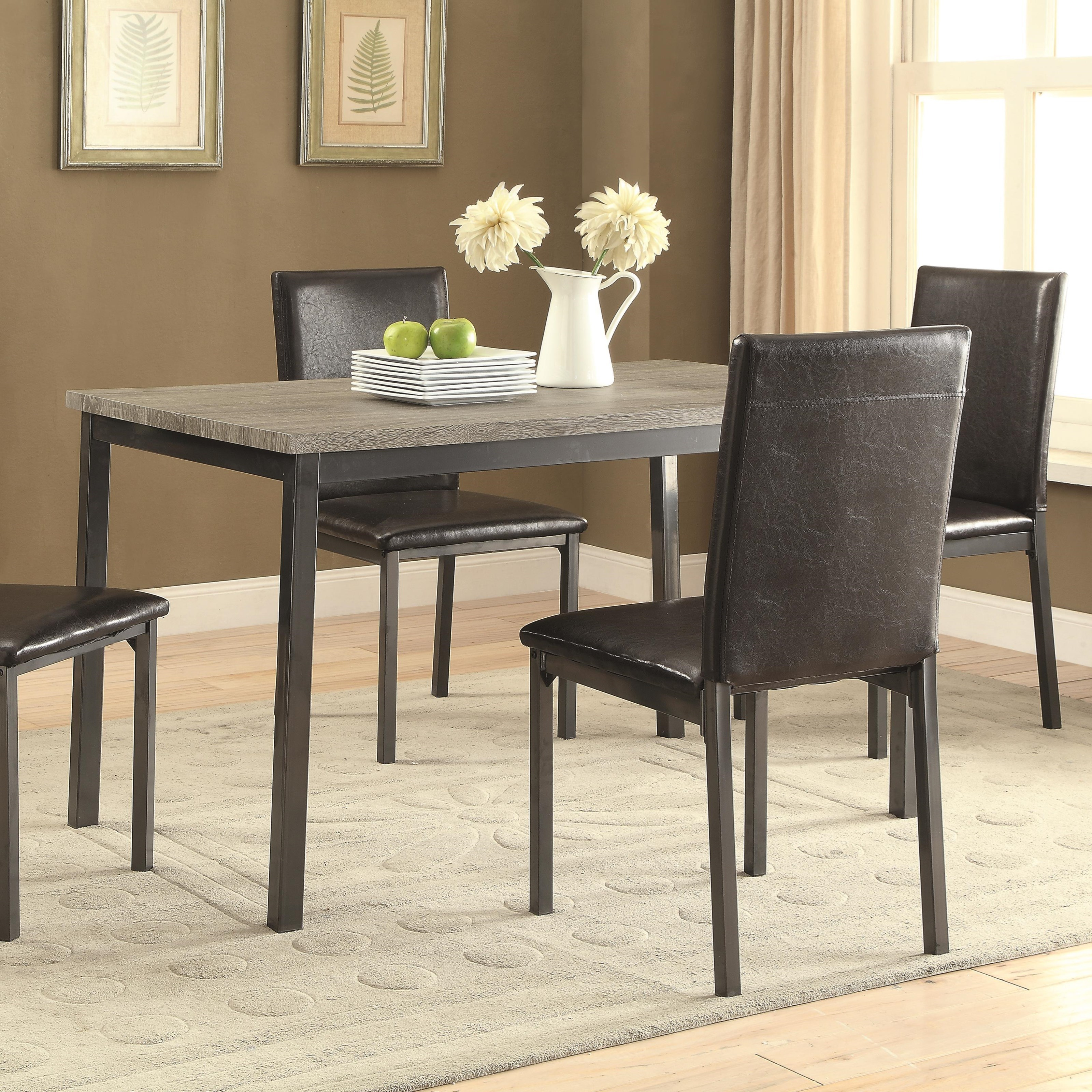 coaster garza dining table with four legs