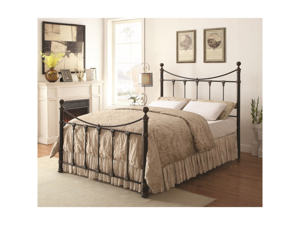 Coaster Gideon 300724Twin Metal Bed