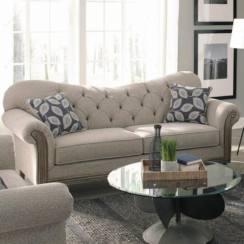 Coaster Gilmore Transitional Sweetheart Sofa with Tufting
