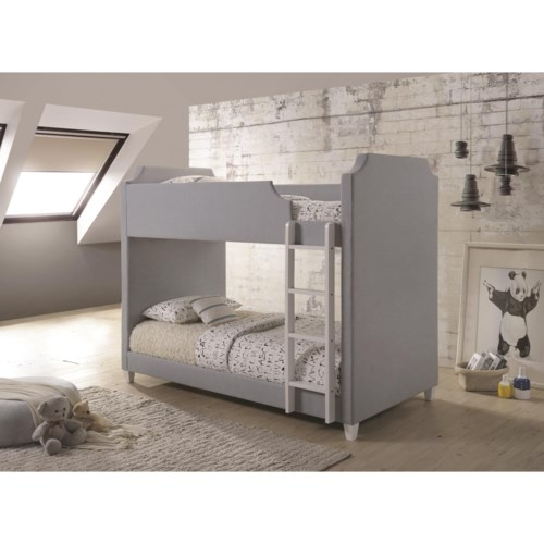 Coaster Gilroy Upholstered Two Tone Bunk Bed Furniture Superstore