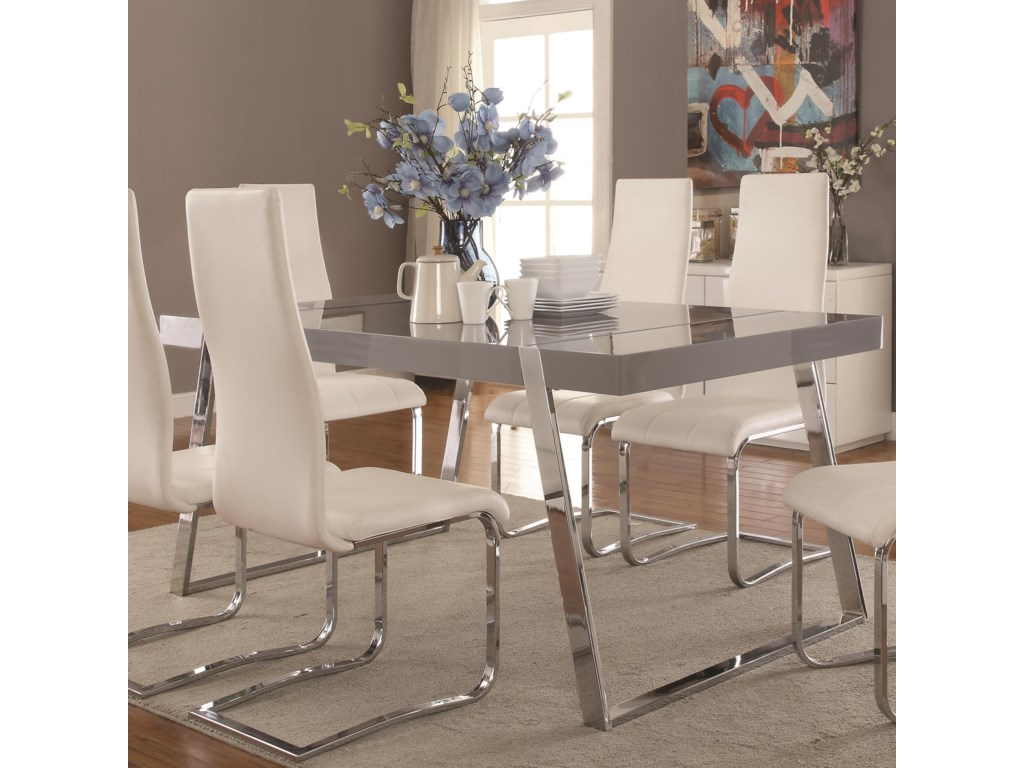Coaster Giovanni Contemporary Rectangular Dining Table