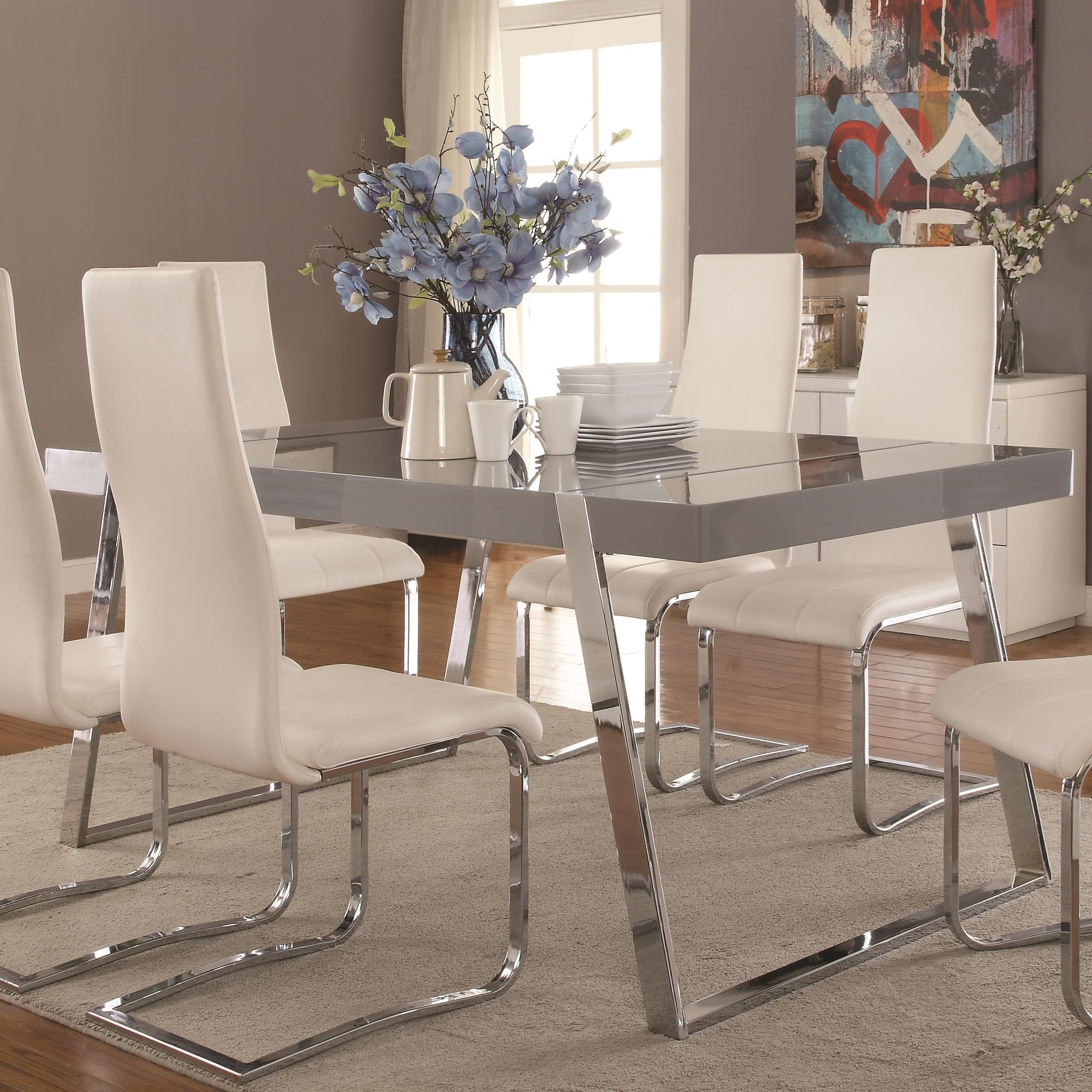 Coaster Giovanni Contemporary Rectangular Dining Table | Value City  Furniture | Dining Tables