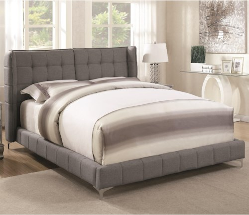 Coaster Goleta Full Upholstered Bed with Button Tufted Headboard