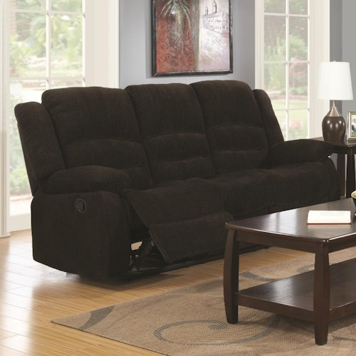 Coaster Gordon Casual Reclining Sofa A1 Furniture