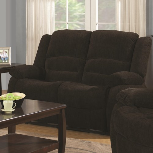 Coaster Gordon Casual Reclining Love Seat