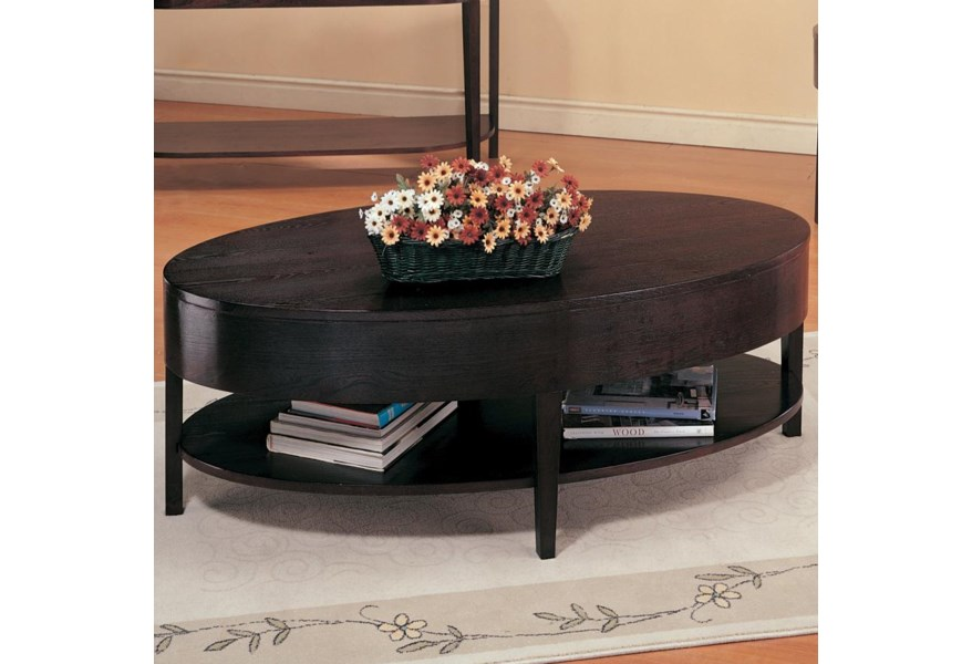 Pleasing Gough Oval Coffee Table With Shelf By Coaster At Northeast Factory Direct Camellatalisay Diy Chair Ideas Camellatalisaycom