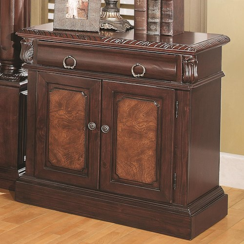 Coaster Grand Prado Nightstand w/ 2 Doors