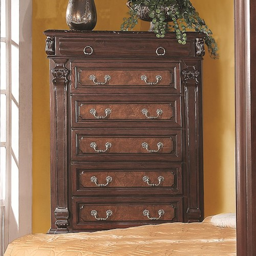 Coaster Grand Prado Tall Chest w/ 5 Drawers