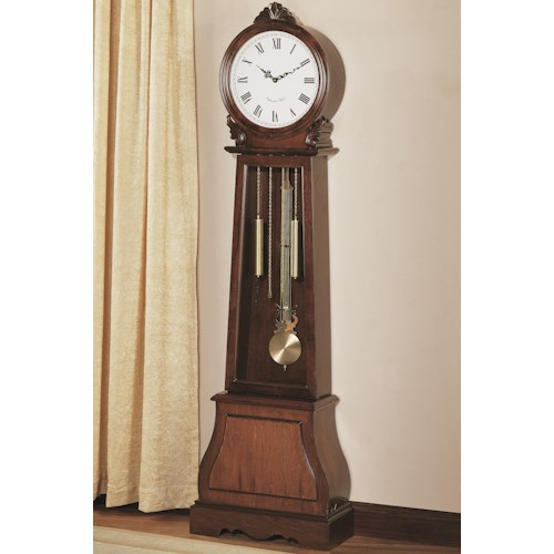 Coaster Grandfather Clocks Brown Traditional Grandfather Clock with Chime