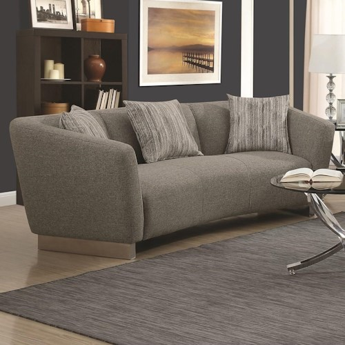 Coaster Grayson Contemporary Sofa With Angled Shelter Arms
