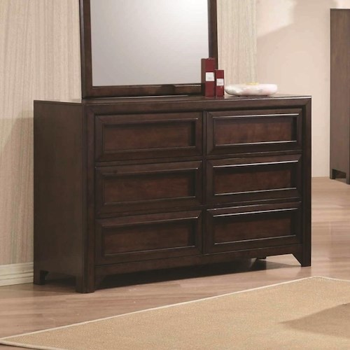 Coaster Greenough Dresser with Six Full Extension Glide Drawers