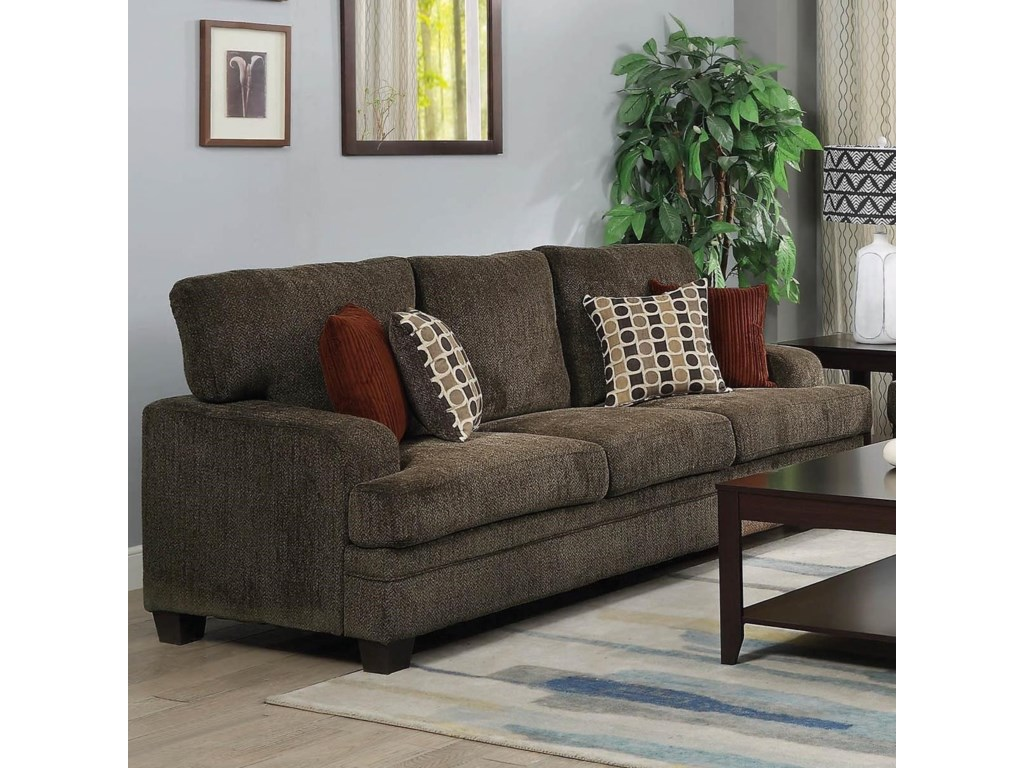 Coaster Griffin Casual Sofa With Wide Track Arms Prime