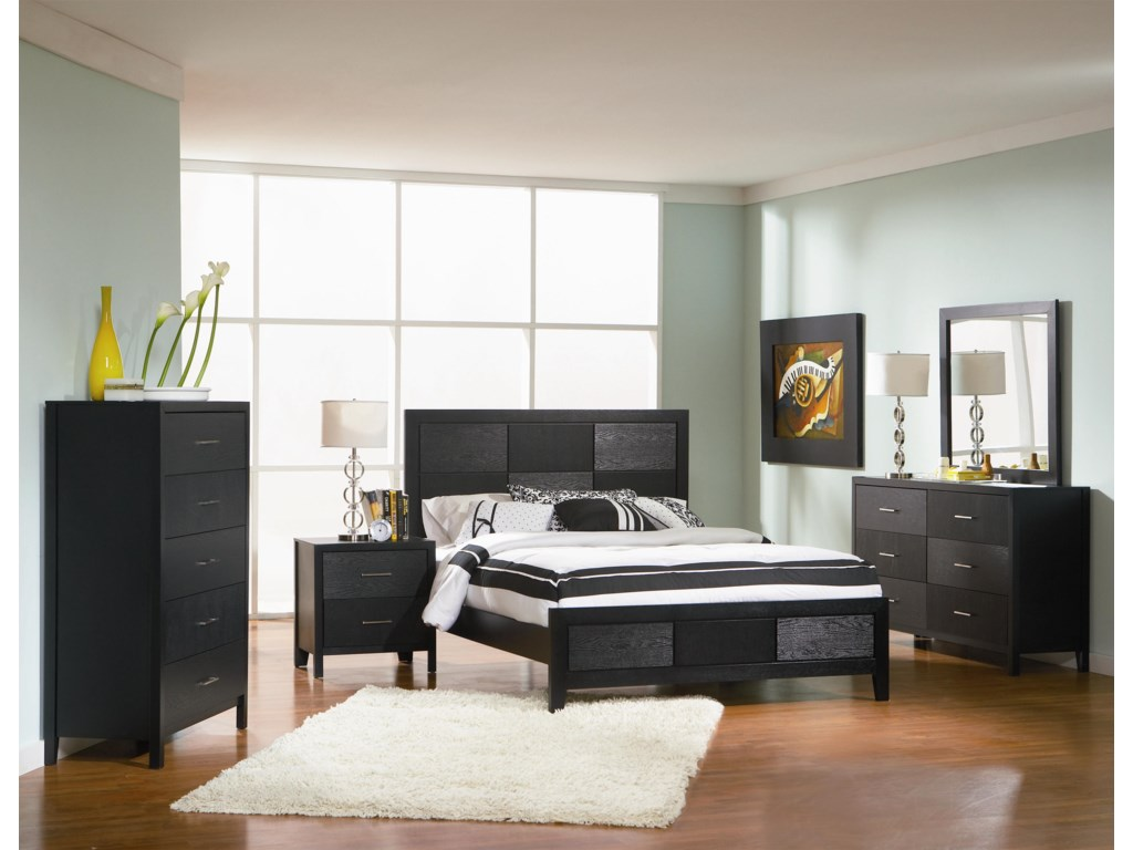 Shown with Chest, Night Stand, Dresser, and Mirror. Bed Shown May Not Represent Size Indicated