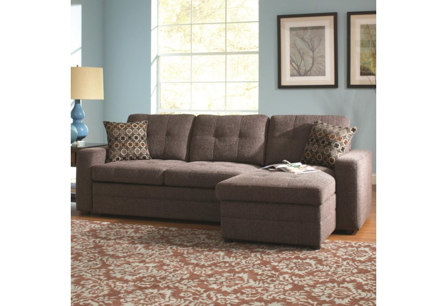 Coaster Gus Sectional Sofa With Tufts