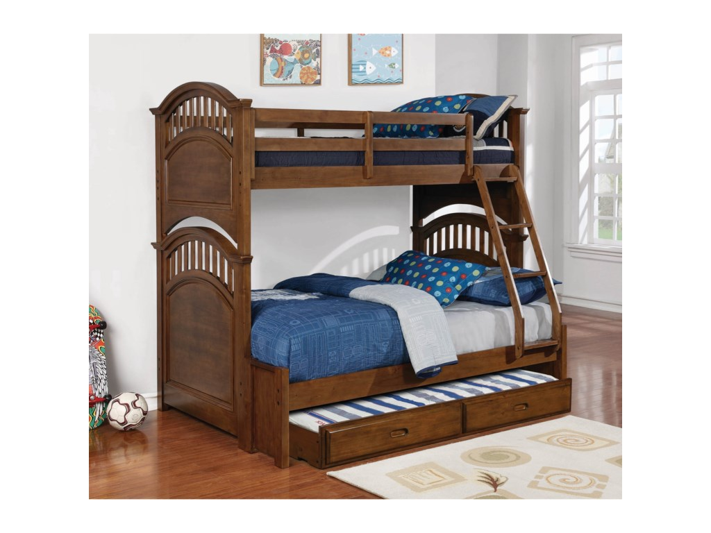 Coaster HalstedTwin over Full Bunk Bed w/ Storage Trundle