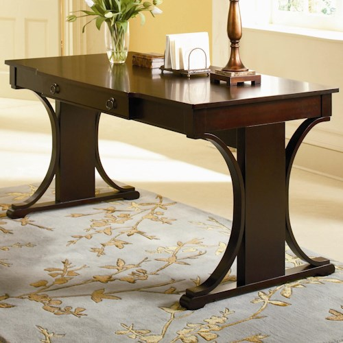 Coaster Cresta Transitional Table Desk With Keyboard Drawer Furniture Superstore Rochester