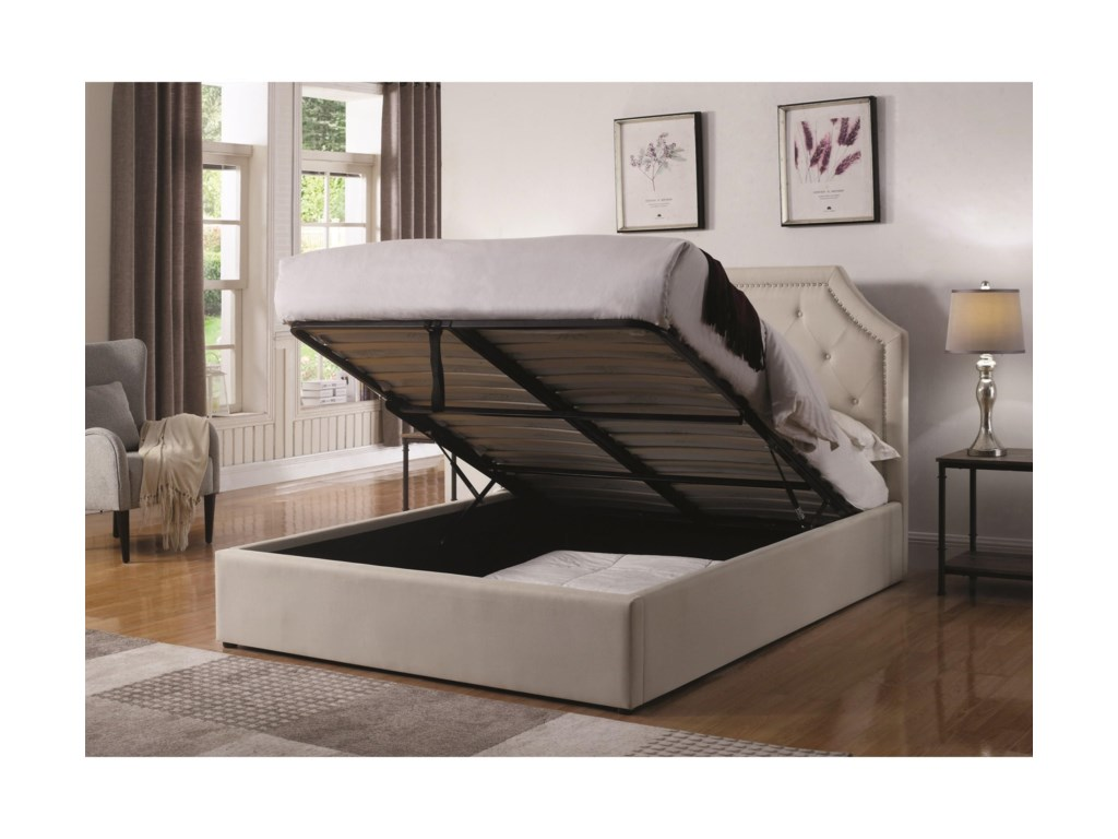 Coaster HermosaQueen Upholstered Bed