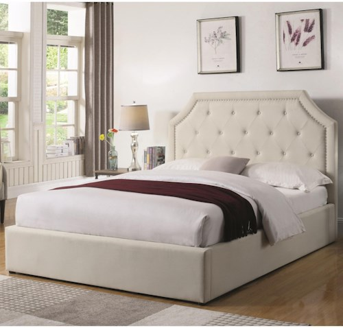 Coaster Hermosa Twin Upholstered Bed with Hydraulic Lift Storage
