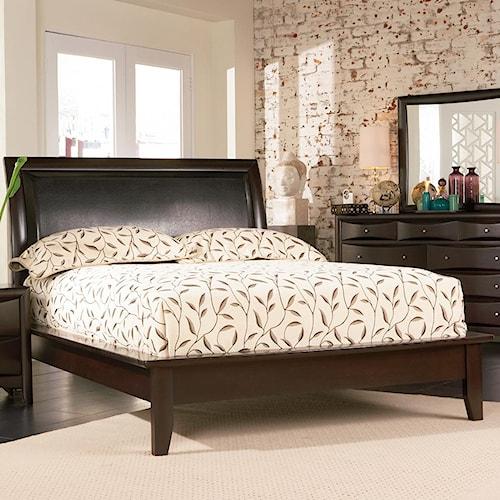 Coaster Phoenix Contemporary California King Platform Bed with Vinyl Panel Headboard