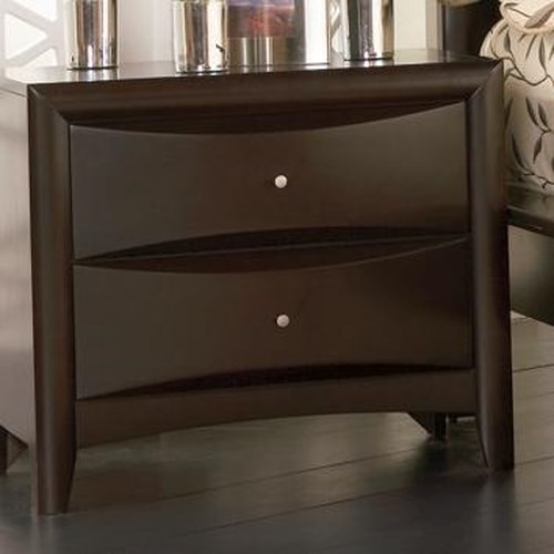 Coaster Phoenix 2 Drawer Nightstand