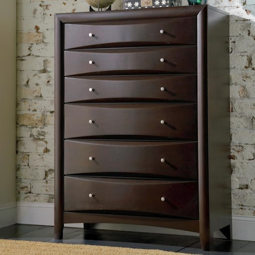 Coaster Phoenix Contemporary 6 Drawer Chest