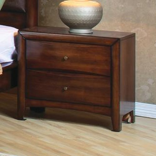 Coaster Hillary and Scottsdale 2 Drawer Nightstand