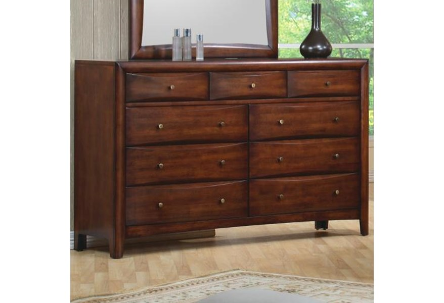 Hillary and Scottsdale Contemporary 9 Drawer Dresser by Coaster at Dunk &  Bright Furniture