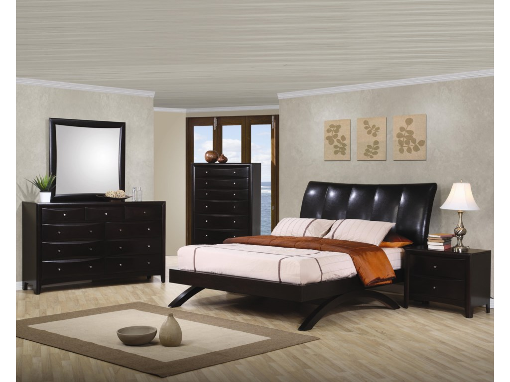 Shown in Room Setting with Dresser, Mirror, Chest, and Nightstand. Bed Shown May Not Represent Size Indicated.