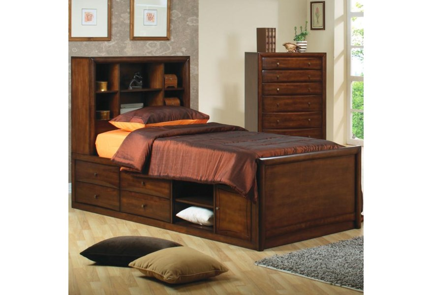 Hillary and Scottsdale Twin Bookcase Bed with Underbed Storage by Coaster  at Rife\'s Home Furniture