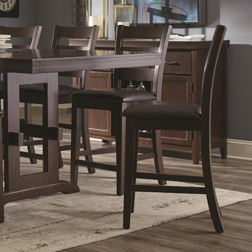 Coaster Holbrook Counter Height Chair With Ladder Backs Beck 39 S Furniture Bar Stools