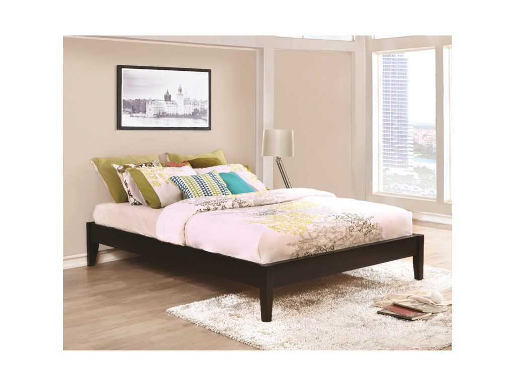 Coaster Hounslow Twin Platform Bed in Cappuccino Finish | Value City ...
