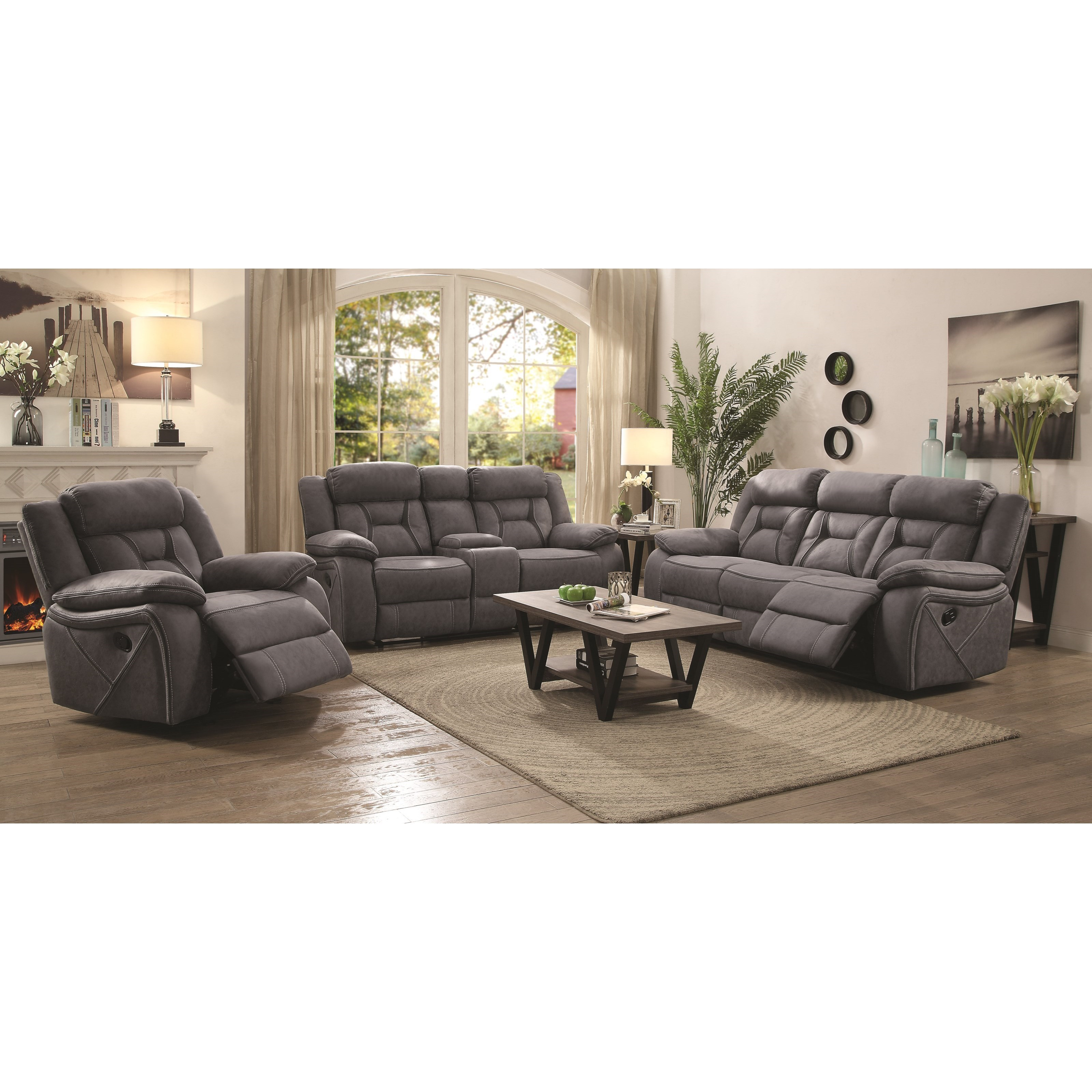 Charmant Coaster HoustonReclining Living Room Group