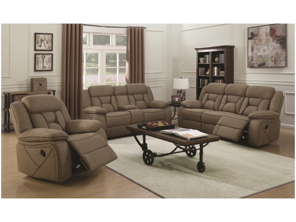 Coaster HoustonReclining Living Room Group