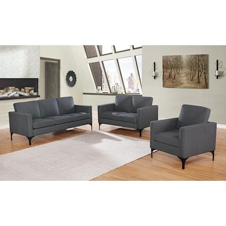 3-Piece Set Sofa/Loveseat/Chair