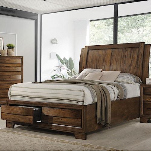 Coaster Hunter King Platform Bed with Storage Footboard