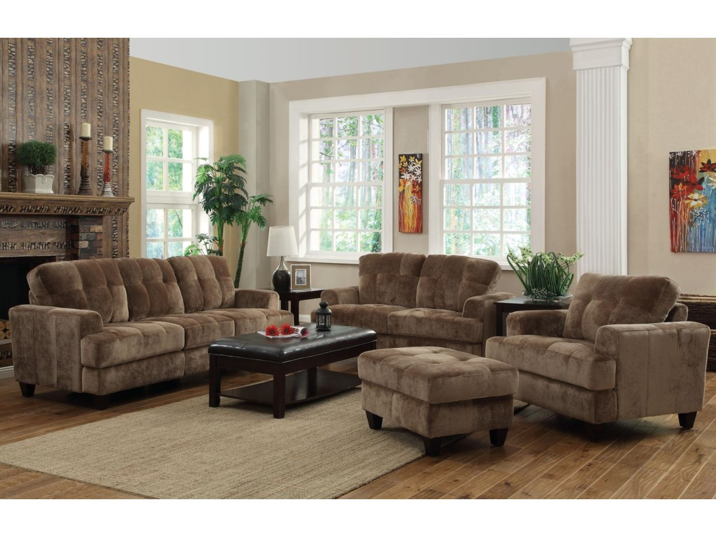 Shown with Coordinating Collection Sofa, Chair and Ottoman