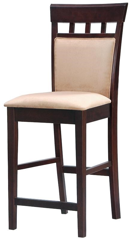 24 Upholstered Panel Back Bar Stool With Fabric Seat Mix Match