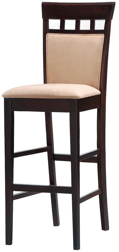 """30"""" Upholstered Panel Back Bar Stool with Fabric Seat"""
