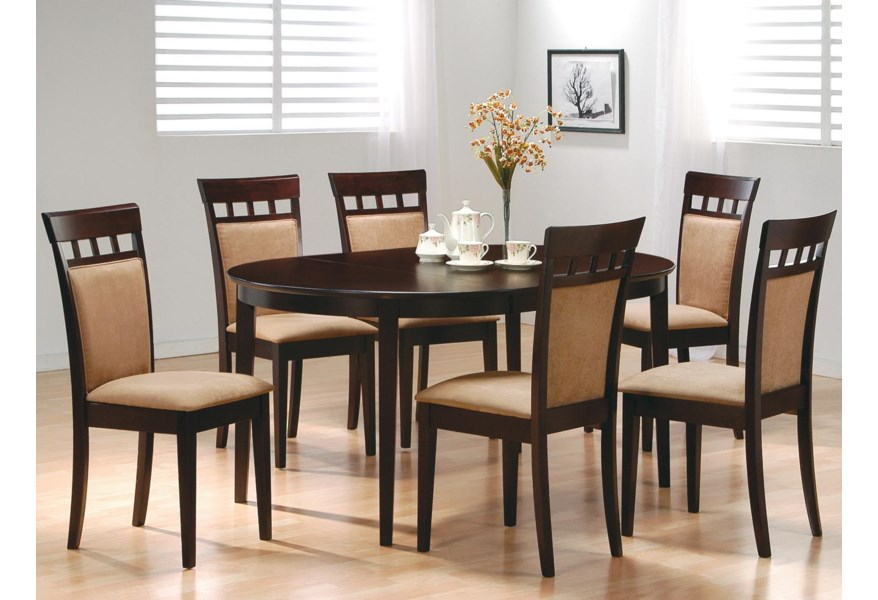 Mix & Match 7 Piece Dining Set by Coaster at Dunk & Bright Furniture