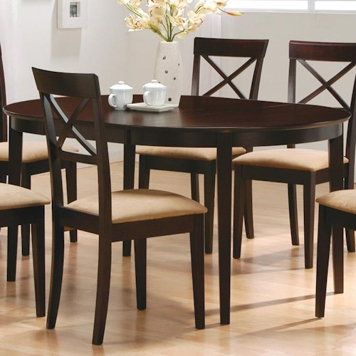 Coaster Mix & Match Oval Dining Leg Table