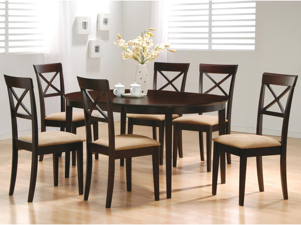 Shown with Cross Back Chairs